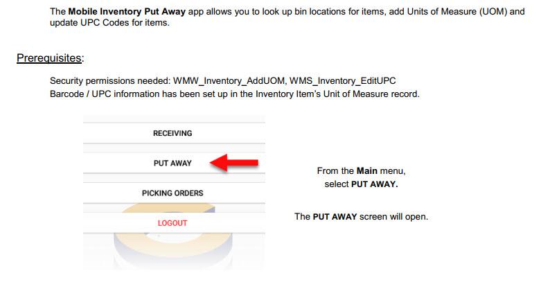 Mobile Inventory – Bin Lookup, UOM Add, UPC Code Update - ComCept